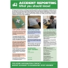 Stewart Superior Accident Reporting Laminated Support Poster W420xH595mm Ref HS108