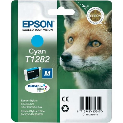 Epson T1282 Inkjet Cartridge DURABrite Fox Capacity 3.5ml Cyan Ref C13T12824011