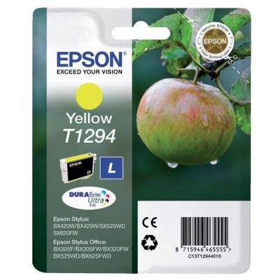 Epson T1294 Inkjet Cartridge DURABrite Apple L Capacity 7ml Yellow Ref C13T12944011