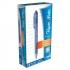 Paper Mate Flexgrip Retractable Ball Pen Medium 1.0mm Tip 0.4mm Line Blue Ref S0190433 [Pack 12]