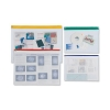 Zip Pouch Heavy-duty PVC Clear with Coloured Seal A3 Assorted [Pack 5]