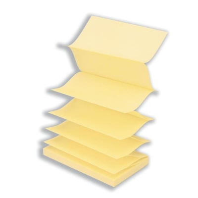 Post-it Z Notes 76x127mm Canary Yellow Ref R350 [Pack 12]