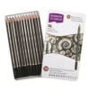 Derwent Academy Sketching Pencils 6B - 5H Ref 2301946 [Pack 12]