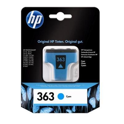 Hewlett Packard [HP] No. 363 Inkjet Cartridge Page Life 350pp 4ml Cyan Ref C8771EE #ABB