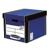 Bankers Box by Fellowes Premium 726 Archive Storage Box Blue and White Ref 7260602 [Pack 10]