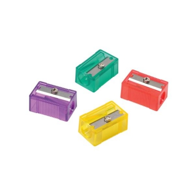 Pencil Sharpener Plastic Anti-tamper Screw 1 Hole Assorted [Pack 10]