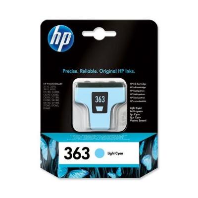 Hewlett Packard [HP] No. 363 Inkjet Cartridge Page Life 350pp 4ml Light Cyan Ref C8774EE #ABB
