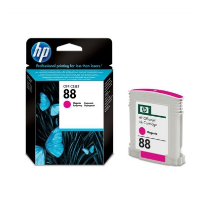 Hewlett Packard [HP] No. 88 Inkjet Cartridge Page Life 850pp 9ml Magenta Ref C9387AE