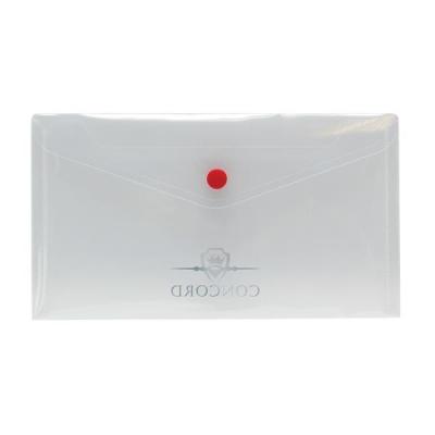 Concord Stud Wallet File Polypropylene Three Part Organiser DL Clear  Ref 6142-PFL (CLR) [Pack 5]