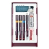 Rotring Isograph College Set with 3 Pens 0.25/0.35/0.5mm 1 Mechanical Pencil 0.5mm Ref S0699380