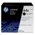 Hewlett Packard [HP] No. 64X Laser Toner Cartridge High Yield Page Life 48000pp Black Ref CC364XD[Pack 2]