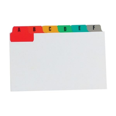 Guide Cards Reinforced A-Z 203x127mm White with Tabs Multicoloured