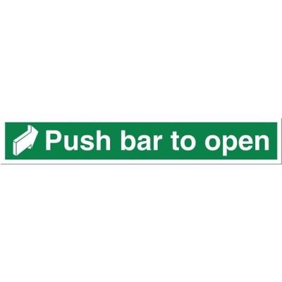 Stewart Superior Sign Push Bar to Open 450x75mm Self-adhesive Vinyl Ref SP127SAV