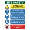 Stewart Superior Foam Board Sign Site Safety 400x300mm Ref FB070