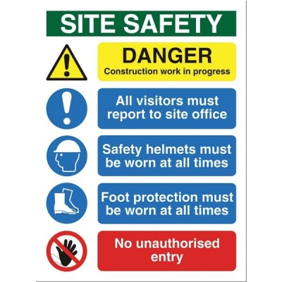 Stewart Superior Foam Board Sign Site Safety 400x300mm Ref FB070