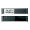 Sliding Door Sign Do Not Disturb W255xH52mm Aluminium and PVC