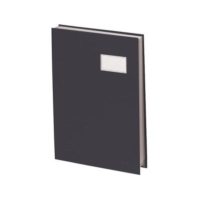 Signature Book 20 Compartments Durable Blotting Card 340x240mm Black