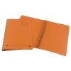 Elba Ashley Flat File 315gsm Capacity 35mm Foolscap Orange Ref 100090283 [Pack 25]