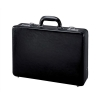 Alassio Attache Case Leather 3x A4 Compartments Expandable by 20mm Black Ref 41033