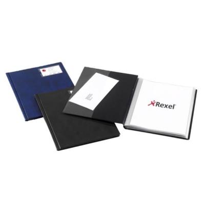 Rexel Nyrex Slimview Display Book 50 Pockets A4 Black Ref 10048BK