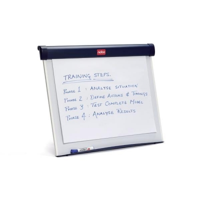Nobo Barracuda Easel Whiteboard Desktop Magnetic with B1 Flipchart and Marker W675xH550mm Ref 1902267