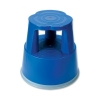 5 Star Step Stool Mobile Plastic Lightweight Strong Top W290xH430xBaseW400mm Blue