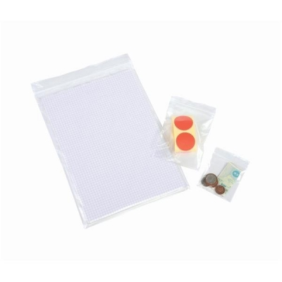 Grip Seal Polythene Bags Resealable 40 Micron 90x114mm [Pack 1000]