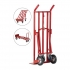 5 Star Sack Truck 3 Position Steel Frame Double Rear Castors Capacity 300kg
