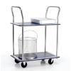 5 Star Trolley Steel Frame Non Marking Wheels Capacity 120kg 2 Shelf Chrome