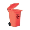 Wheelie Bin High Density Polythene with Rear Wheels 240 Litre Red