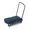 Rubbermaid Triple Trolley with Castors 2 Fixed 2 Swivel Capacity 181kg Platform L826xW521mm Ref 4401