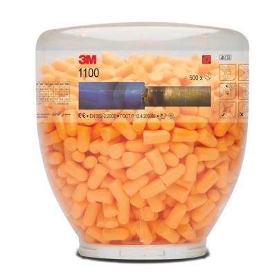 3M Ear Plugs Hypoallergenic Foam Tapered Design Refill Bottle Ref 1100B [500 Pairs]