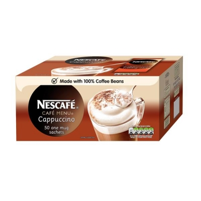 Nescafe Cappucino Instant Coffee Sachets One Cup Ref 12130480 [Pack 50]