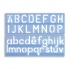 Stencil Set of Letters Numbers and Symbols 50mm Upper And Lower Case 4-piece