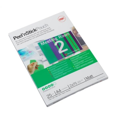 GBC Peel nStick Laminating Pouches Gloss 250 Micron A4 Ref 3747243 [Pack 100]