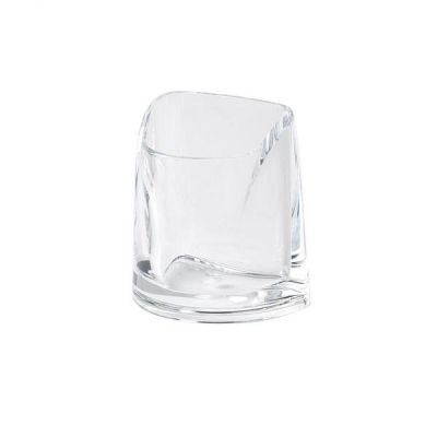 Rexel Nimbus Pencil Cup Acrylic Large Clear Ref 2101502