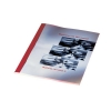 GBC Thermal Binding Covers 1.5mm Front PVC Clear Back Leathergrain A4 Red Ref IB451201 [Pack 100]