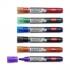 Nobo Liquid Ink Drymarker Drywipe Flipchart OHP Bullet Tip Line Width 3mm Assorted Ref 1901077 [Wallet 6]