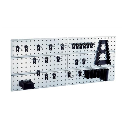Tool Wall Panels and 28 Super Clips [2 Panels]