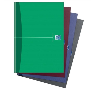 Oxford Office Notebook Casebound Hard Cover 192pp 90gsm A4 Random Colour Ref 100105005 [Pack 5]
