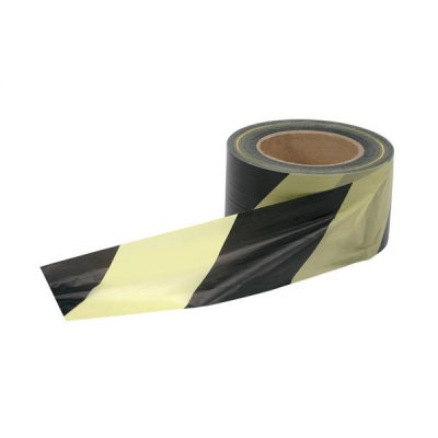 Barrier Tape in Dispenser Box 72mmx500m Yellow and Black