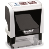 Trodat Office Printy Stamp Self-inking First Class 18x46mm Reinkable Red and Blue Ref 43242