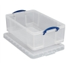 Really Useful Storage Box Plastic Lightweight Robust Stackable 50 Litre W440xD710xH230mm Clear Ref 50C
