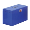 Pierre Henry Metal File Box with 5 Suspension Files Tabs and Inserts Foolscap Blue Ref 040122