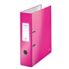 Leitz WOW Lever Arch File 80mm Spine for 600 Sheets A4 Pink Ref 10050023 [Pack 10]
