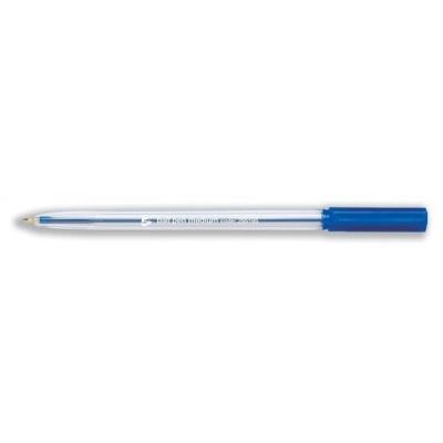 5 Star Ball Pen Clear Barrel Medium 1.0mm Tip 0.7mm Line Blue [Pack 50]