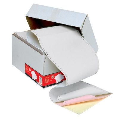 5 Star Listing Paper 3-Part Microperforated 80/58/57gsm Carbonless A4 White/Pink/Yellow [700 Sheets]