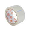 5 Star Clear Tape Roll Large Easy-tear Polypropylene 40 Microns 50mm x 66m [Pack 3]