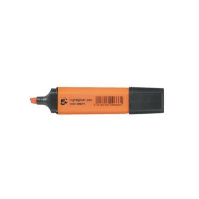 5 Star Highlighters Chisel Tip 1-5mm Line Orange [Pack 12]