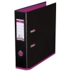Elba MyColour Lever Arch File Polypropylene Capacity 80mm A4 Black and Pink Ref 100081035